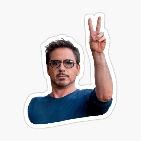 RDJ Peace Sticker