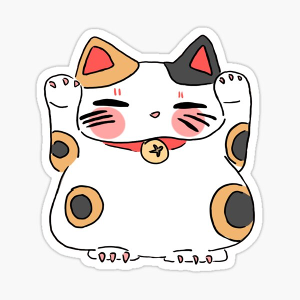 Thicc Lucky Cat  Sticker