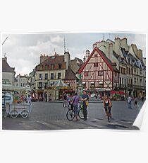 Dijon, France, Town Centre Poster