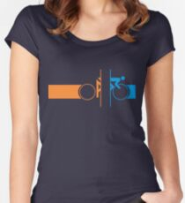 Bike Stripes Portal Women's Fitted Scoop T-Shirt