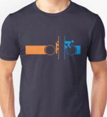 Camiseta ajustada Bike Stripes Portal