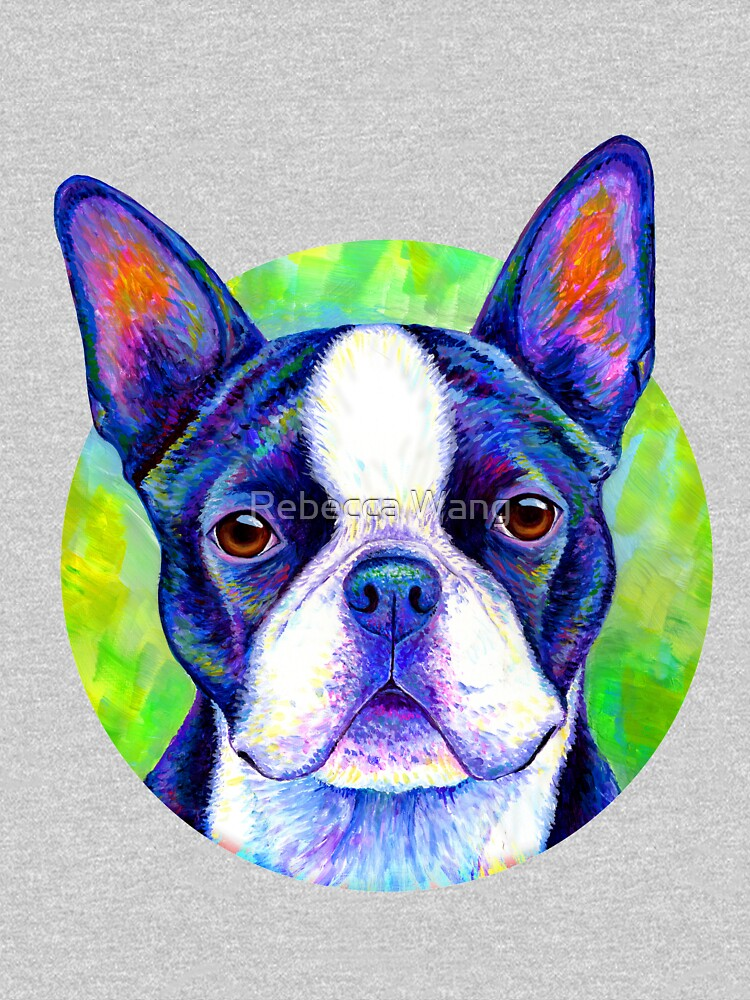 Effervescent - Colorful Boston Terrier Dog by lioncrusher