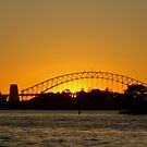 Sunset over Sydney Harbour Bridge and The Opera House by Of Land & Ocean - Samantha Goode