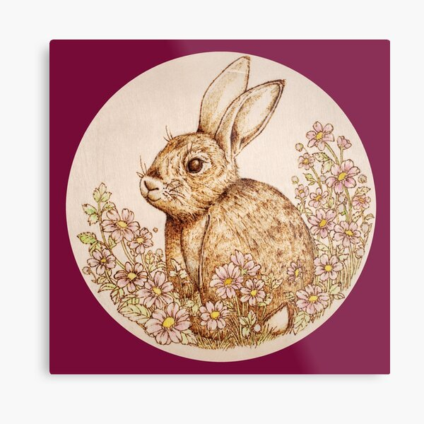Spring Bunny Metal Print