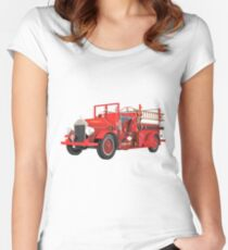 Antique Fire Engine Women's Fitted Scoop T-Shirt