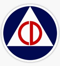 Civil Defense Emblem Sticker