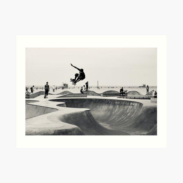 Horizontal Skateboarding Print Venice Skatepark Poster Photography Print Venice Beach Art Print
