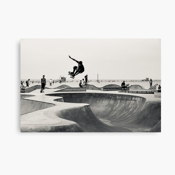 Horizontal Skateboarding Print Venice Skatepark Poster Photography Print Venice Beach Canvas Print