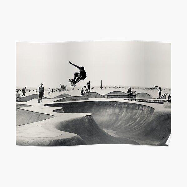 Monopatín horizontal Imprimir Venice Skatepark Poster Fotografía Imprimir Venice Beach Póster