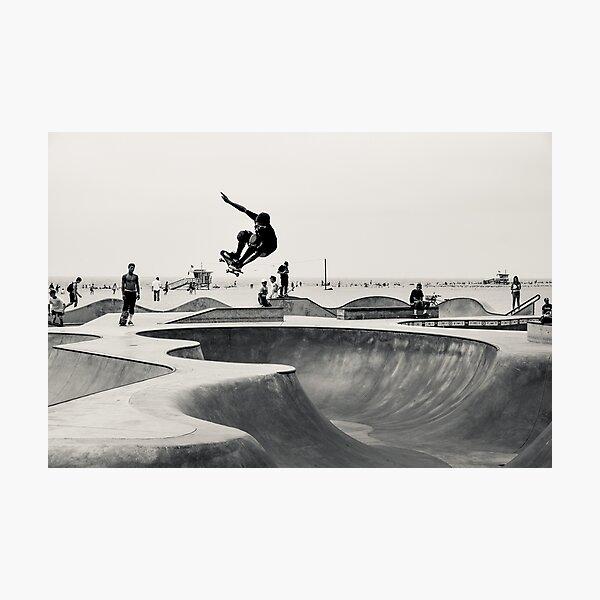 Horizontal Skateboarding Print Venice Skatepark Poster Photography Print Venice Beach Photographic Print