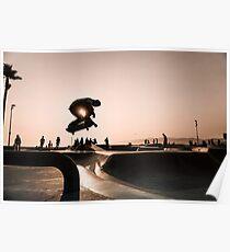 Horizontal Skateboarding Print Venice Skatepark Poster Photography Print Venice Beach Dusk Poster