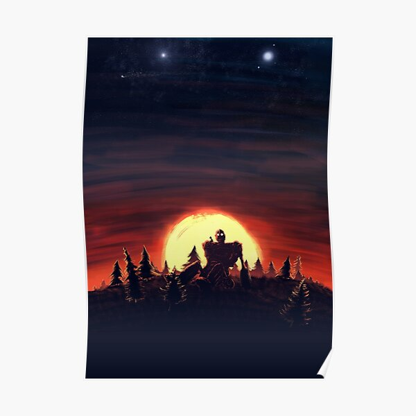 The Iron Giant Sunset Poster