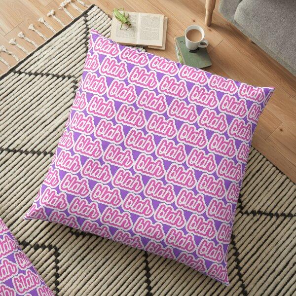 blah - pink and purple Floor Pillow