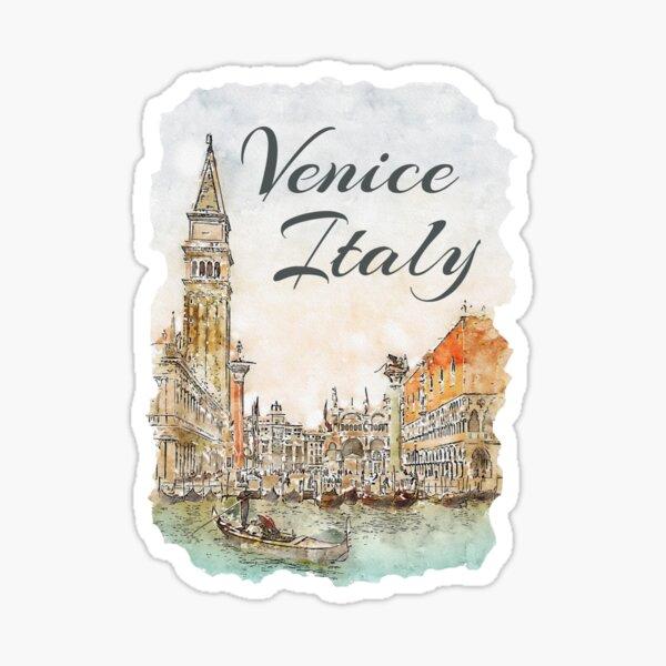 Venice Italy Watercolor Souvenir Sticker