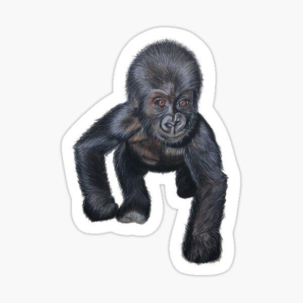 Gorilla Baby Sticker