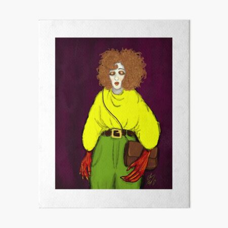 Girl with Handbag Art Board Print
