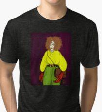 Girl with Handbag Tri-blend T-Shirt