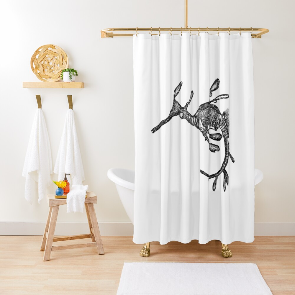 Pee-Jay the Baby Weedy Sea Dragon  Shower Curtain