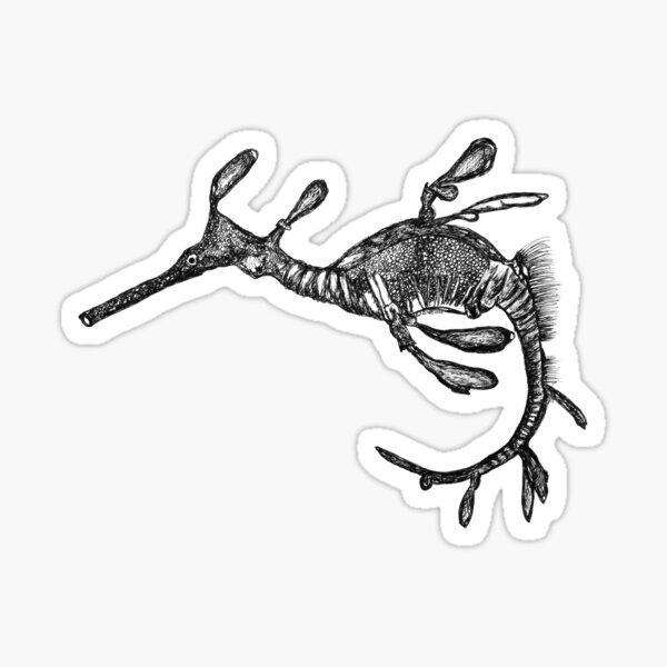 Pee-Jay the Baby Weedy Sea Dragon  Sticker