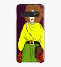 Girl with Handbag Case/Skin for Samsung Galaxy