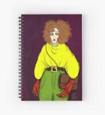 Girl with Handbag Spiral Notebook