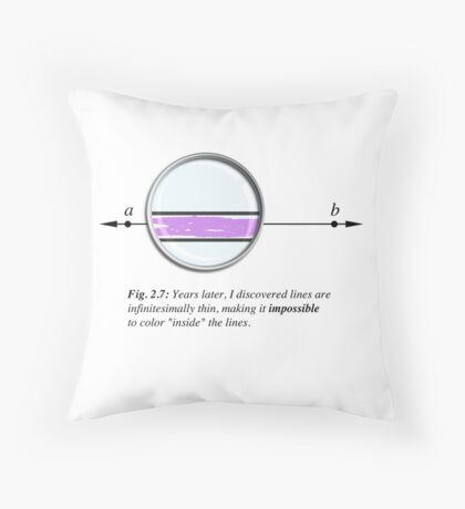 Coloring inside the lines Throw Pillow