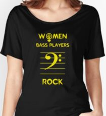 Camiseta ancha Mujeres Bajistas Rock