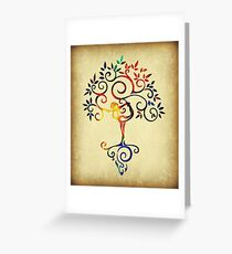 Yoga tree 2 Greeting Card