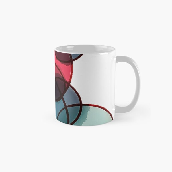 abstract study in kandinsky watercolors and rings Classic Mug