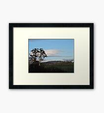 Lenticular Clouds Framed Print