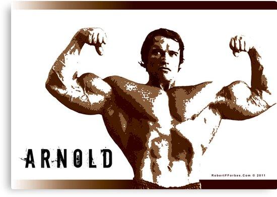 Arnold Schwarzenegger - Front Double Biceps by celebrityart