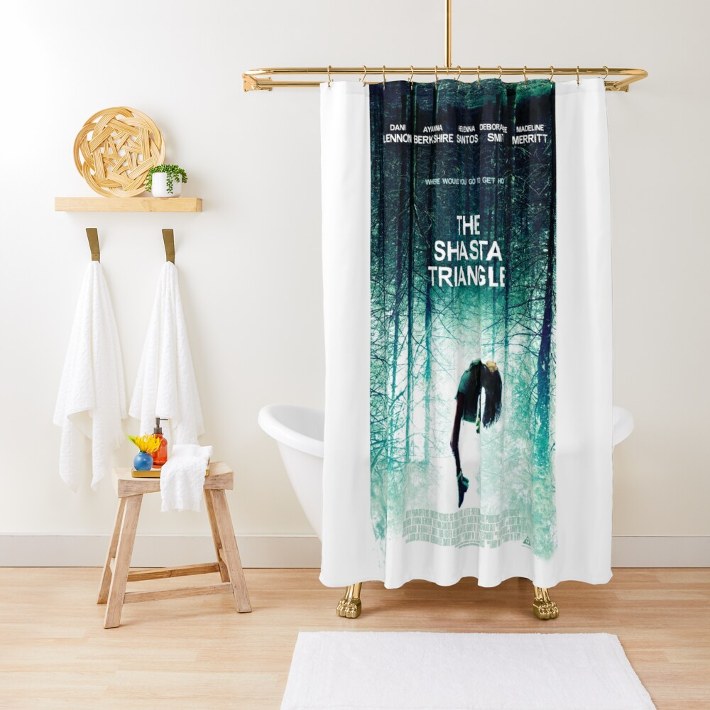 Shasta Triangle Poster Merch! Shower Curtain