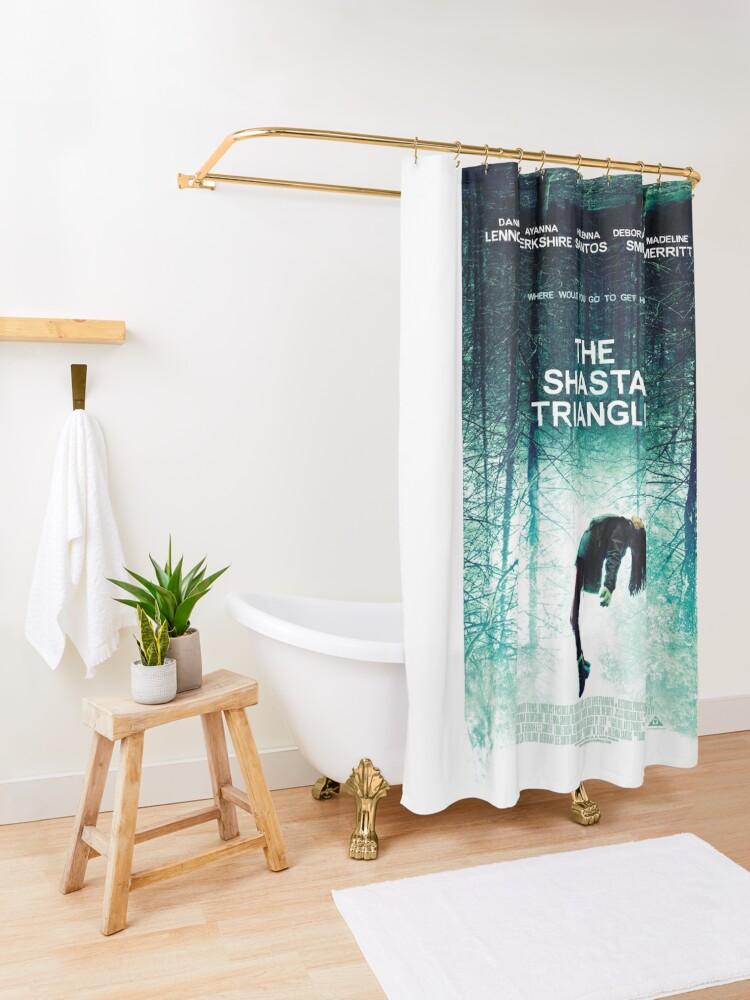 Alternate view of Shasta Triangle Poster Merch! Shower Curtain