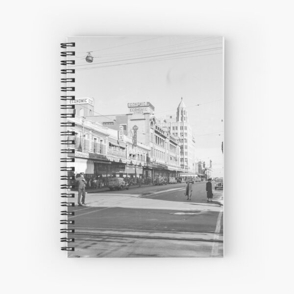 William Street looking south, Perth, 1941, State Library of Western Australia Spiral Notebook