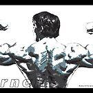 Arnold Schwarzenegger - Double Rear Biceps by celebrityart