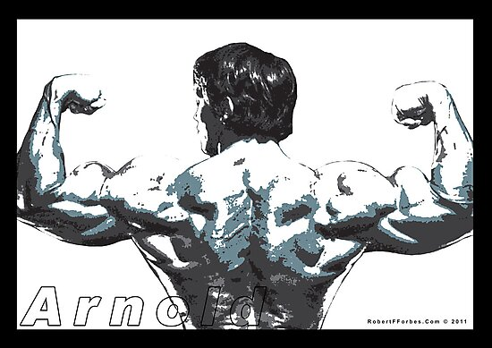 Arnold Schwarzenegger - Double Rear Biceps by celebrityart
