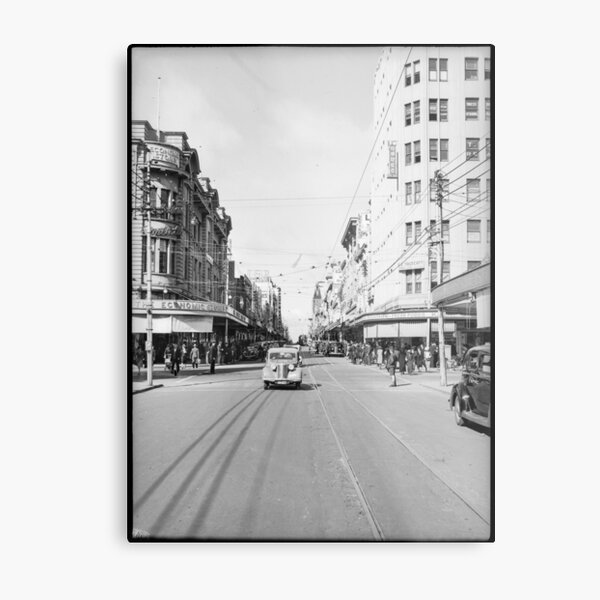 Hay Street, Perth, 1941, State Library of Western Australia Metal Print