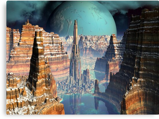 Soaring Tower City, The Giant Canyon  by Angela Harburn