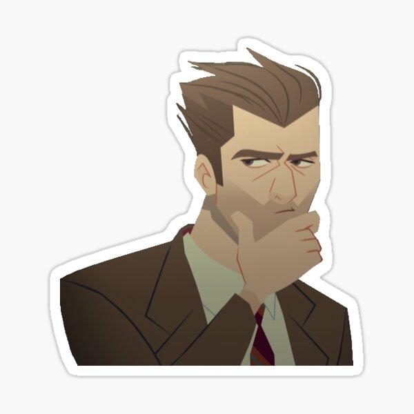 Chase Devineaux Thinking Sticker