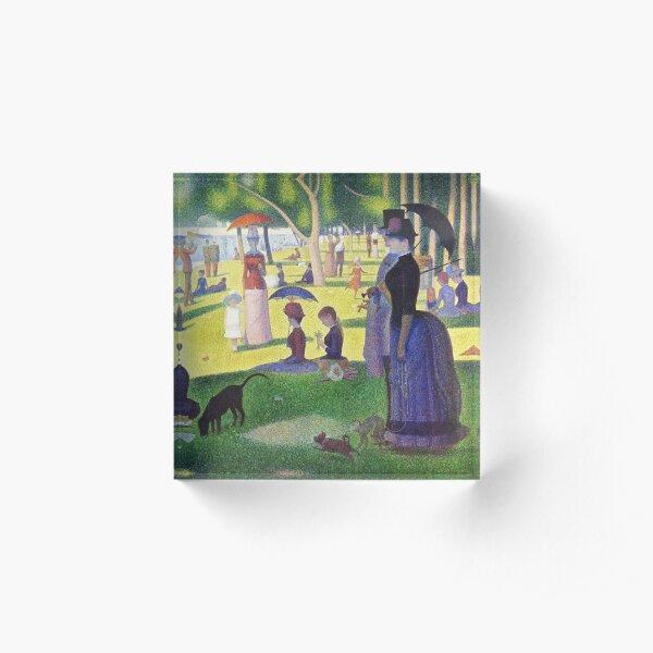 A Sunday on La Grande Jatte - Georges Seurat Acrylic Block