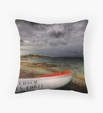 Little Row Boat 3 Throw Pillow