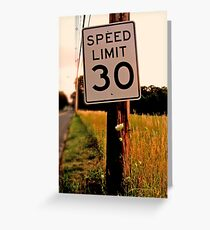 30 Miles Greeting Card