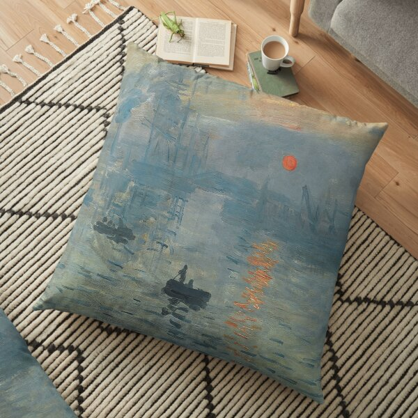 Impression Sunrise, Claude Monet, 1872 Floor Pillow