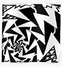 Electric Swirl Maze Poster