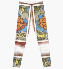 Wheel Of Fortune Tarot Card Leggings