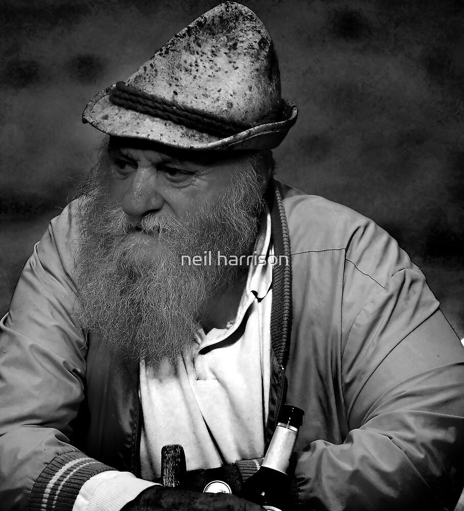 portrait of a swiss farmer by neil harrison