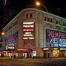 Shubert Theatre at Night by jscherr