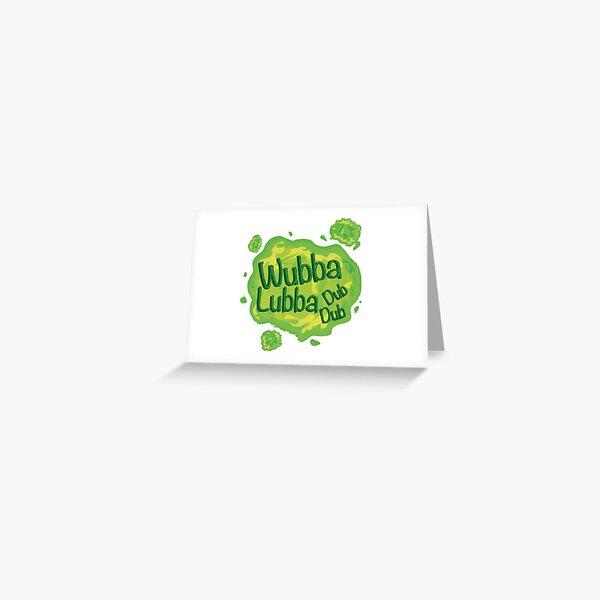 Wubba Lubba Dub Dub Portal from Rick and Morty (Fanart) Greeting Card