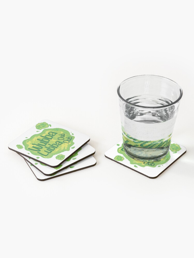 Alternate view of Wubba Lubba Dub Dub Portal from Rick and Morty (Fanart) Coasters (Set of 4)