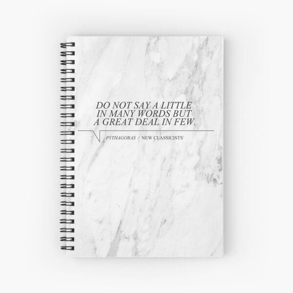New Classicists Spiral Pythagoras Spiral Notebook